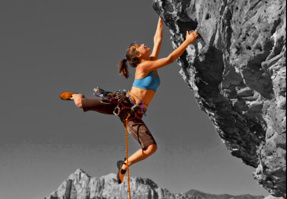 keine Sturzangst beim Klettern