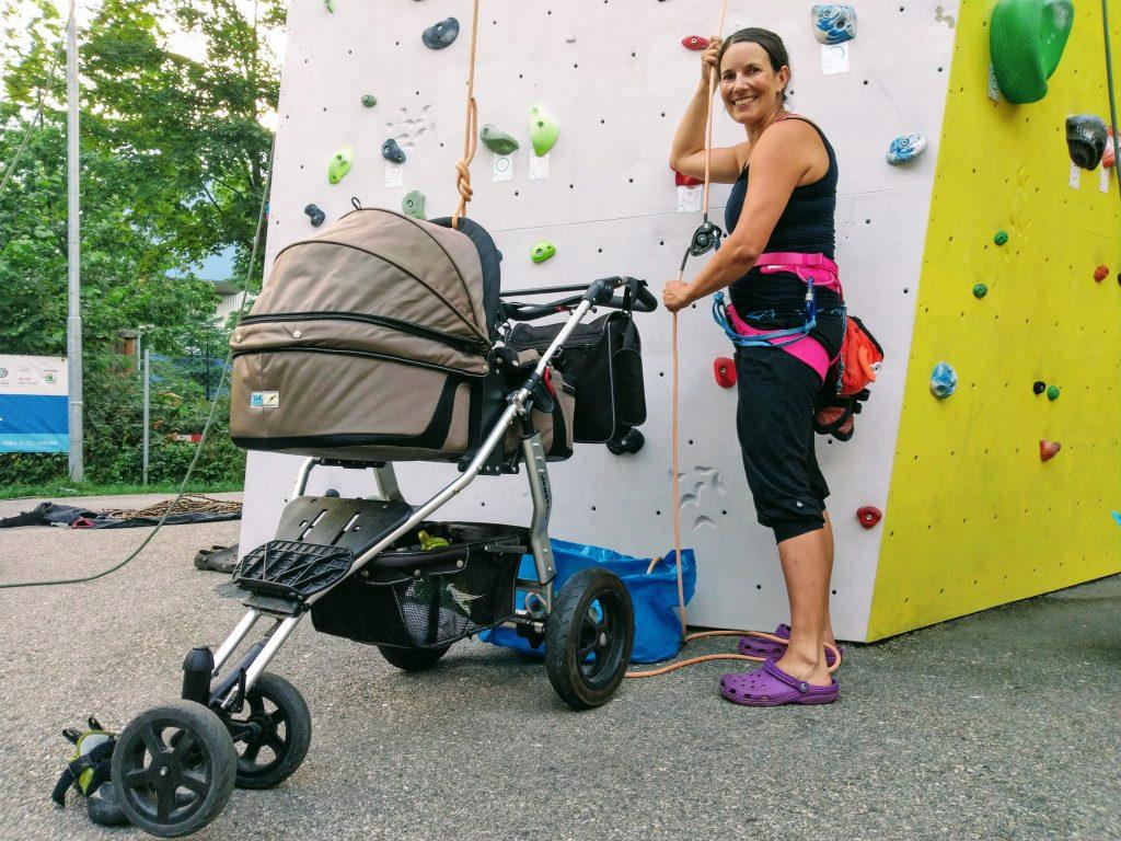 Klettern mit Baby